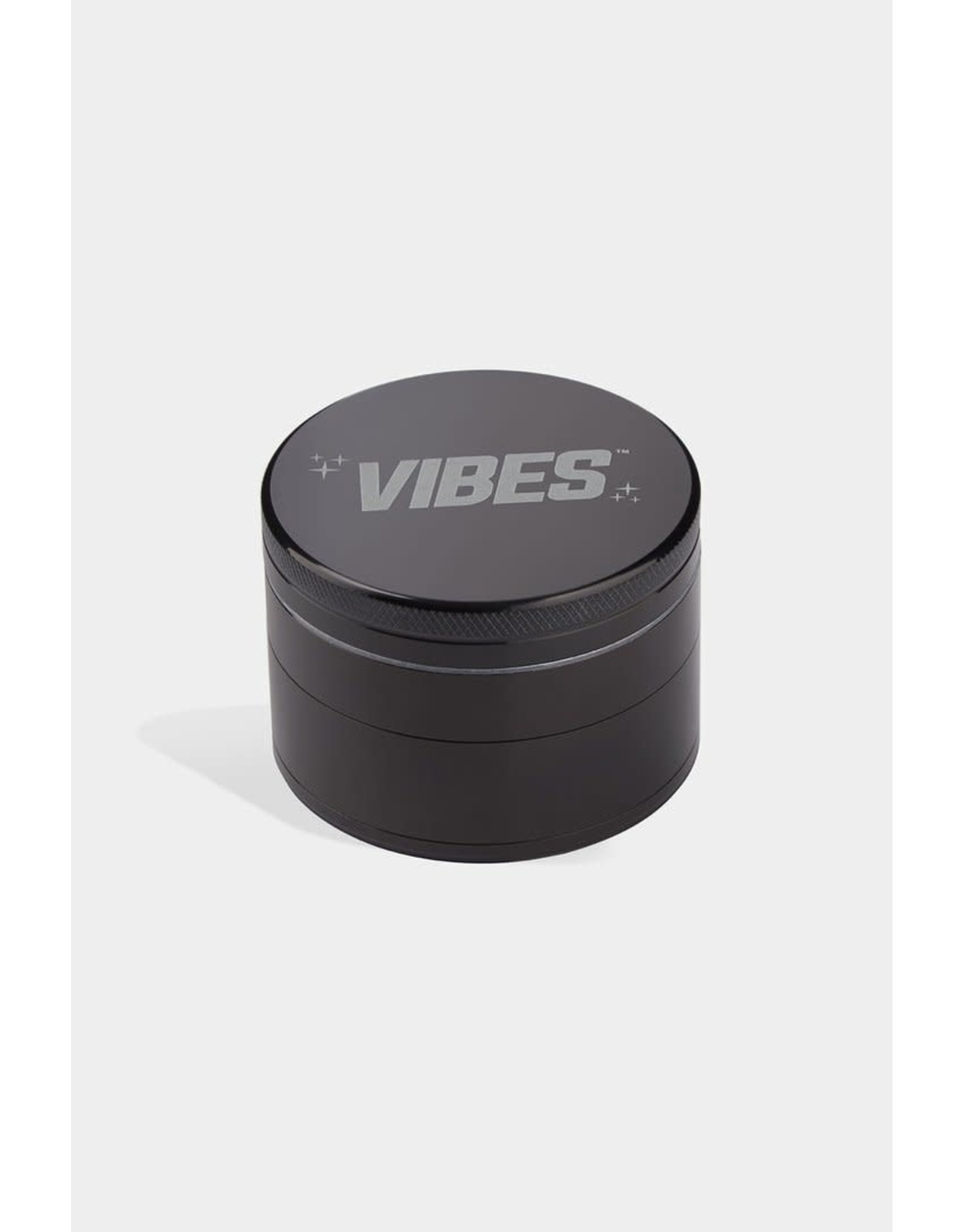 """Vibes Papers Vibes Aluminum 4pc grinder 2.5"""" Black"""