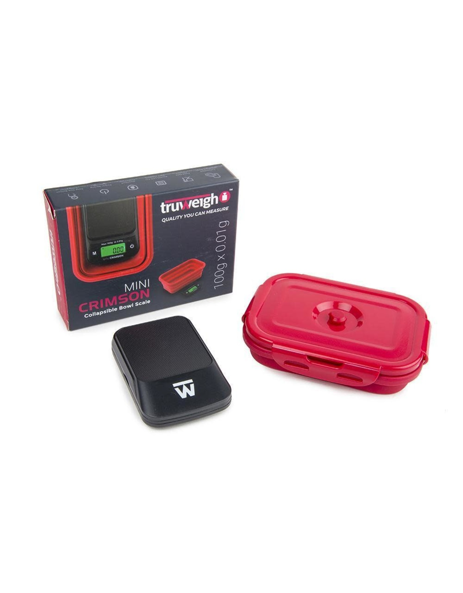 truweigh Truweigh Mini Crimson 100x.01g Collapsible bowl scale