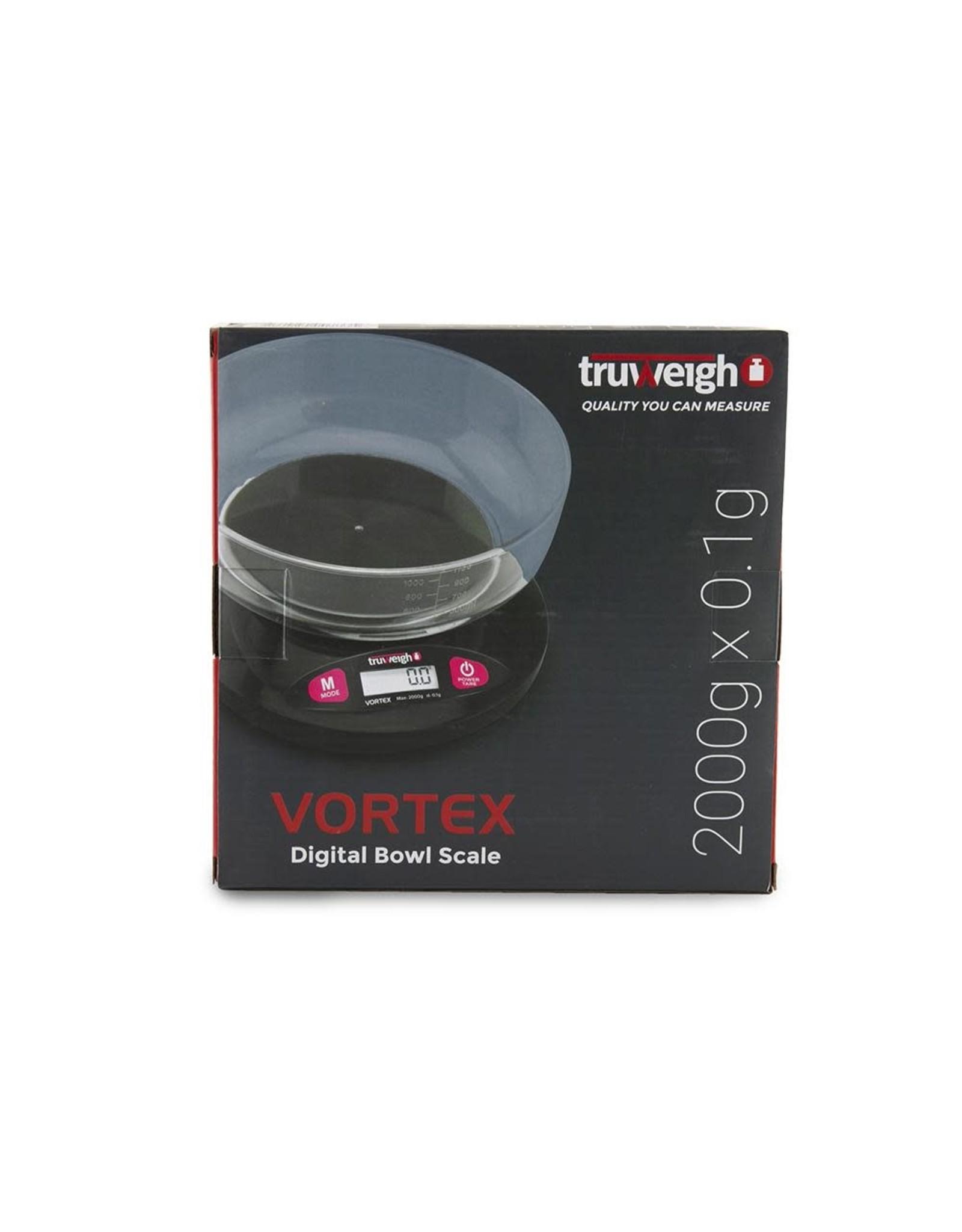 truweigh Truweigh Vortex Digital Bowl Scale - 2000g x 0.1g / Black