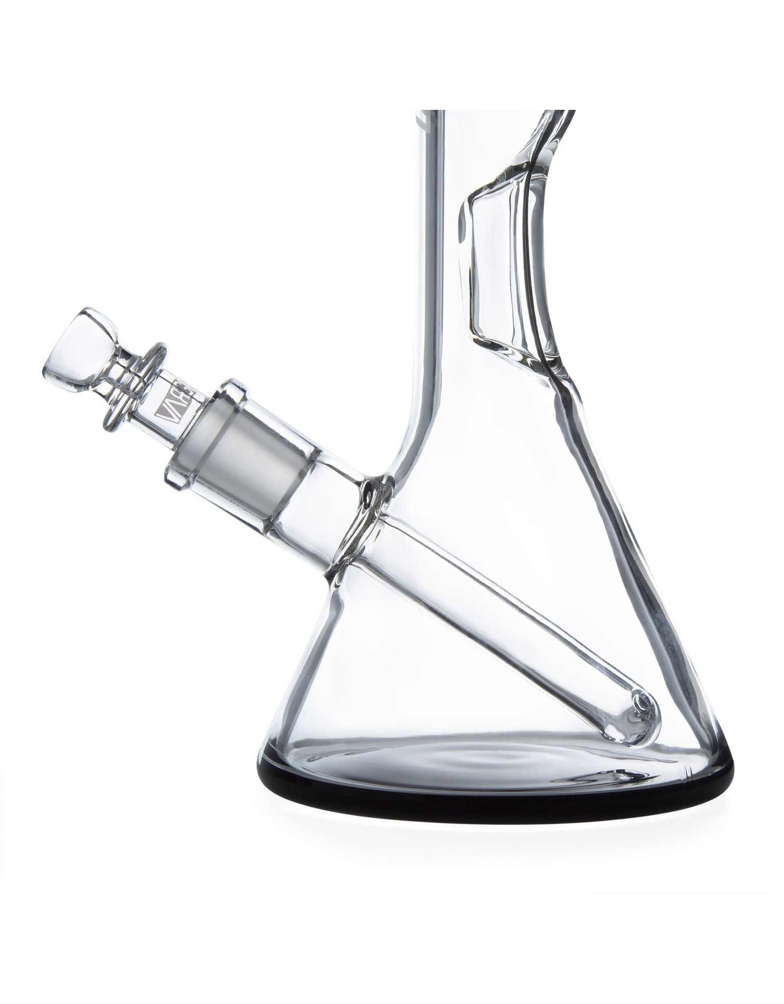 "Grav Labs 8"" Grav Labs Beaker Waterpipe With Fixed Downstem And Black Accents"