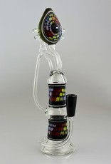 Gher Glass Gher Glass Engris Pattern Recycler With 5 opals Rig