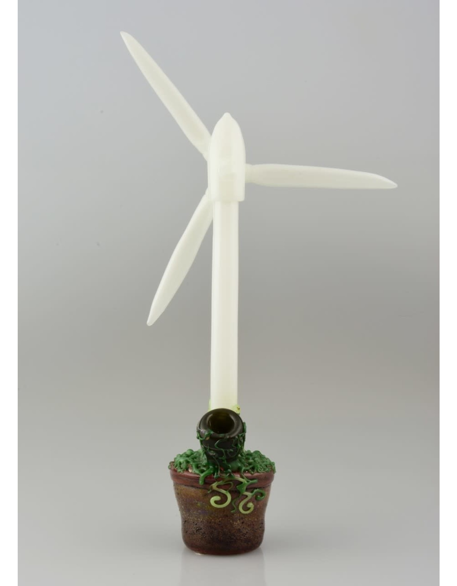 Calm White Windmill In Pot Spoon