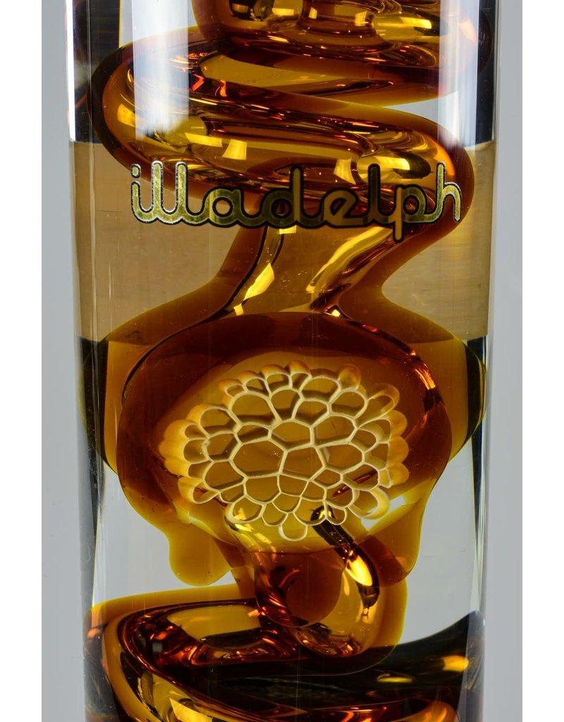 Illadelph Honeycomb Amber Chilladelph Mini Straight With Stemless Shower Head