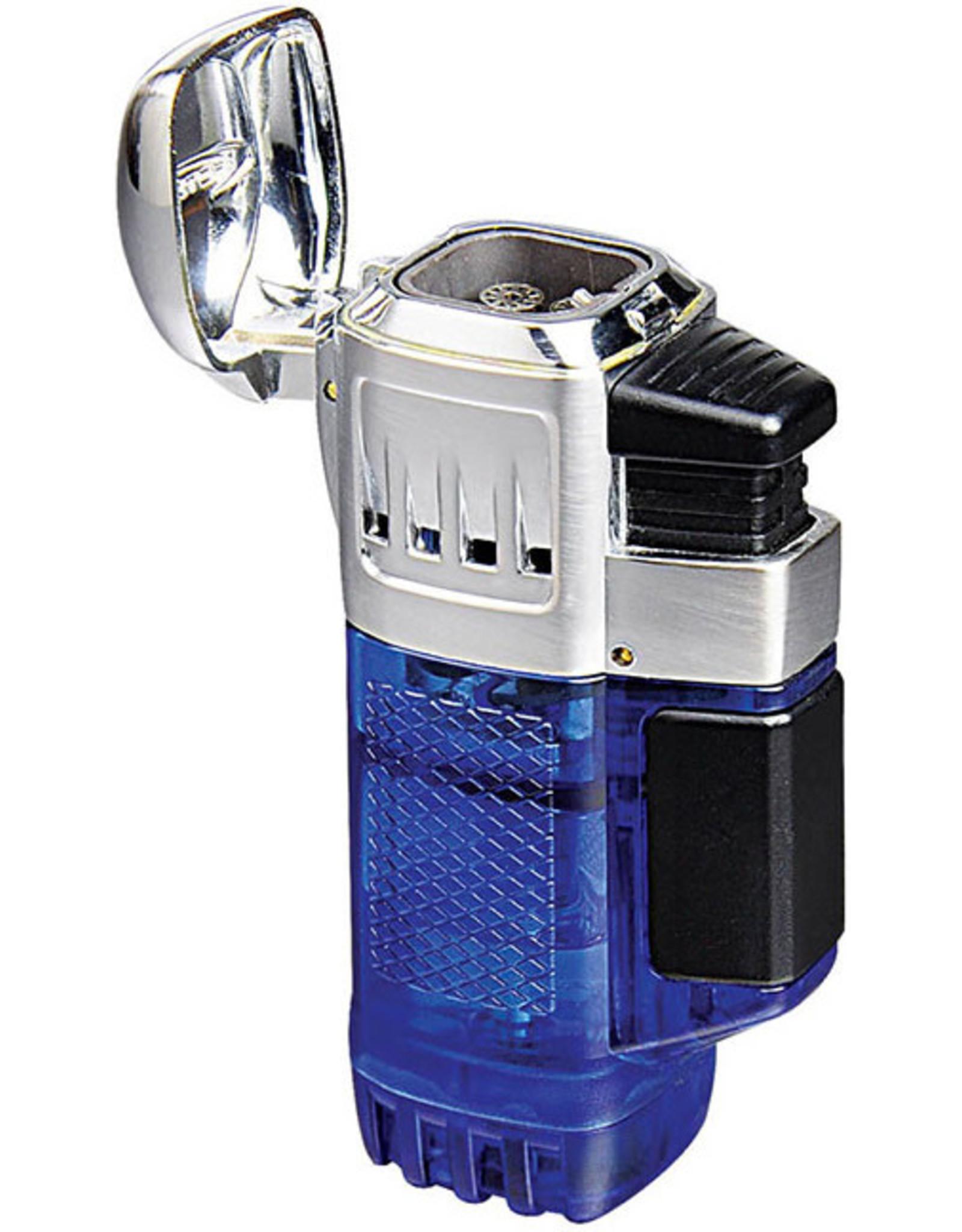 Vector Vector Torch Lighter QuadTank Blue Transparent