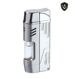 Vector Vector Torch Lighter Delta Chrome Satin
