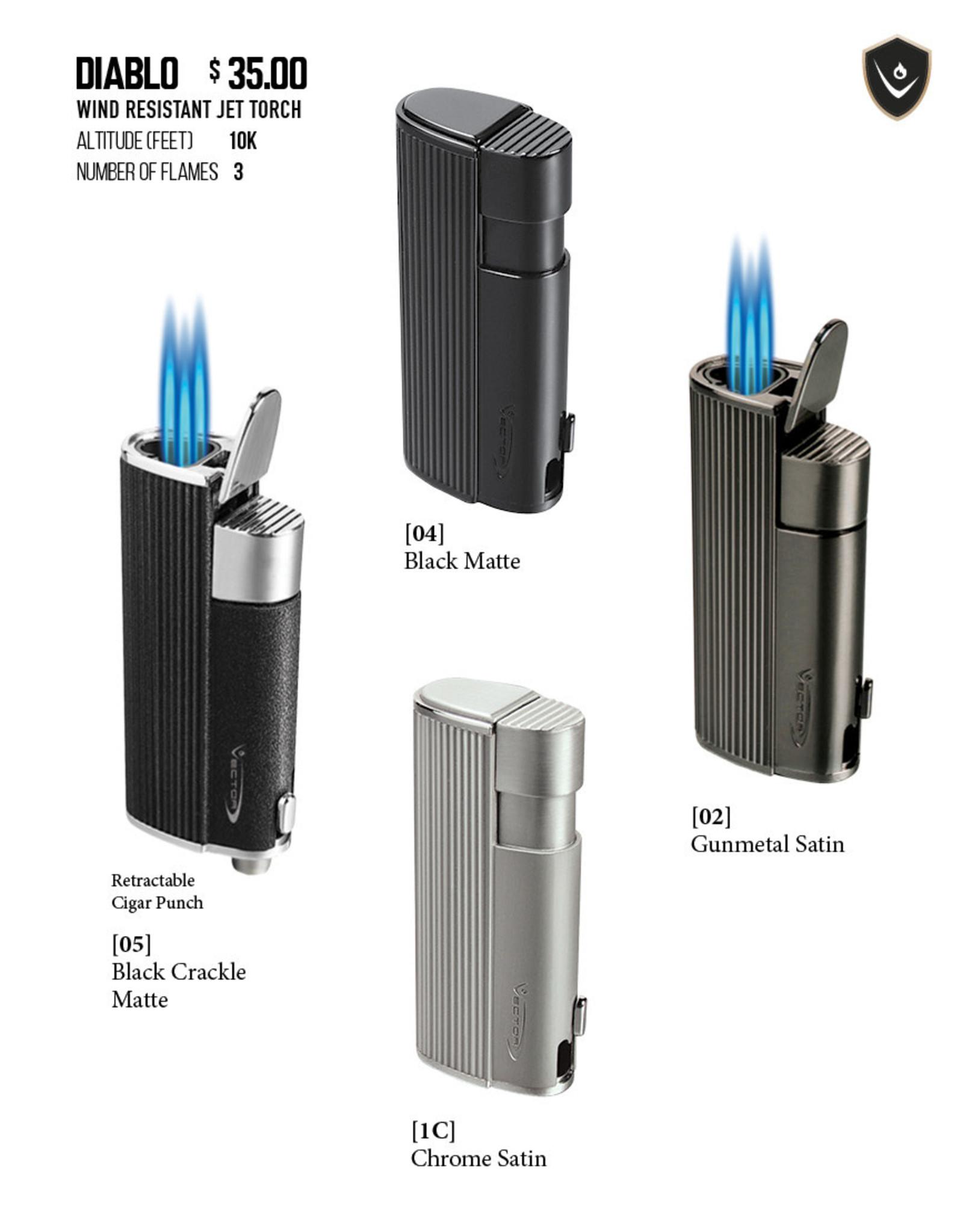 Vector Vector Torch Lighter Diablo Chrome Satin