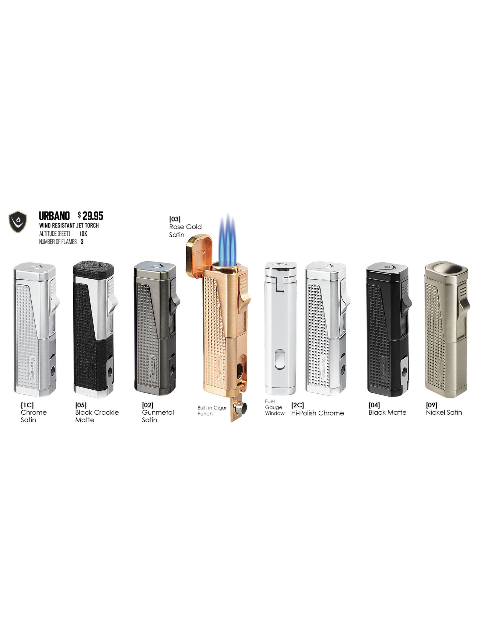 Vector Vector Torch Lighter Urbano Rose Gold