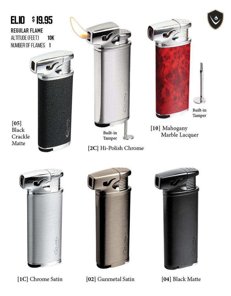 Vector Vector Pipe Lighter Elio Hi-Polish Chrome (SOFT FLAME)
