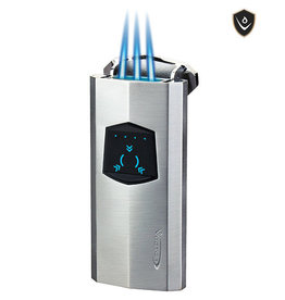 Vector Vector Torch Lighter Icon Chrome Satin