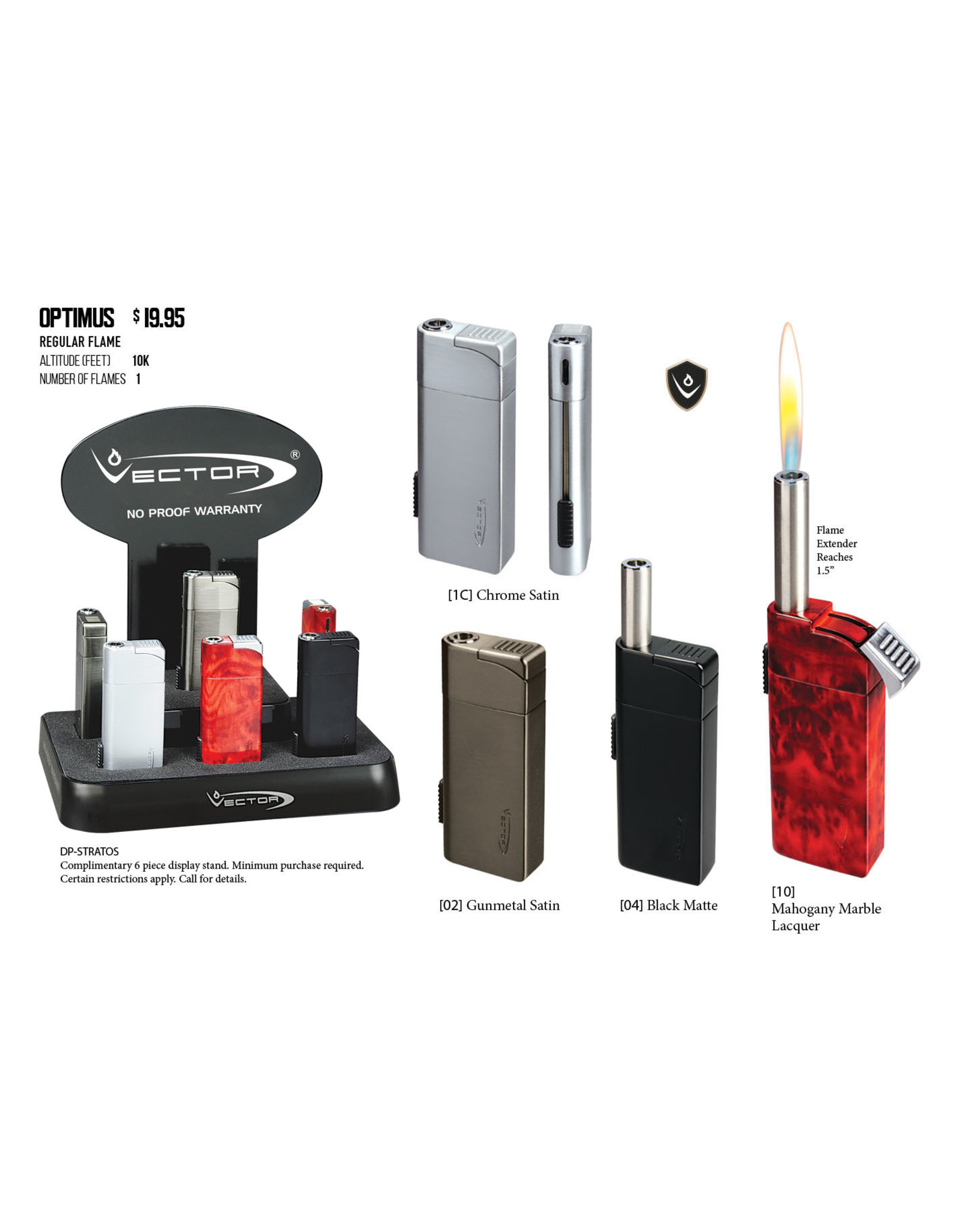Vector Vector Lighter Optimus Mahogany (SOFT FLAME)
