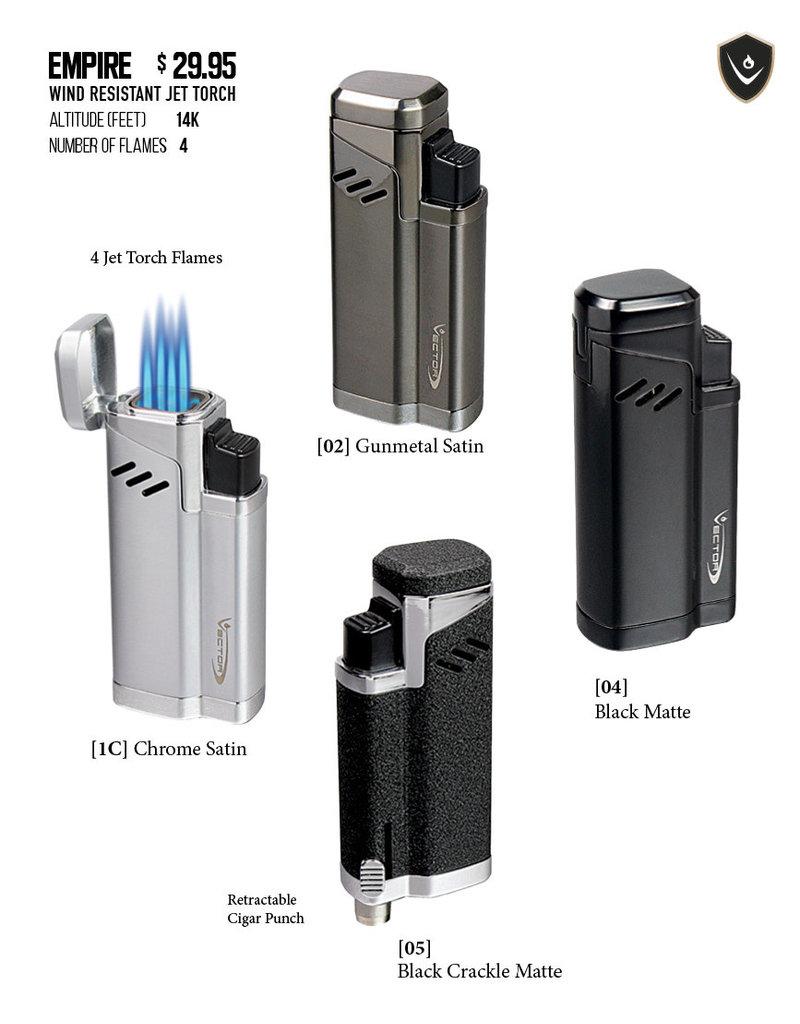 Vector Vector Torch Lighter Empire Black crackle