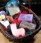 Gift Basket- Deluxe Combo: 3 Bath/Novelty Bars, 3 Guest Soaps, Miracle Mud, & Body Cream