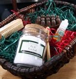 Gift Foot Spa Basket: Fix it! Massager Bar & Fix it! Foot Soak & Nail Brush