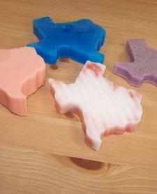 Texas shaped soaps