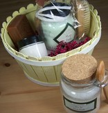Spa Kit: Soap bar, Scrub brush, Body Cream, Bath Fizzy Salts or Foot Soak