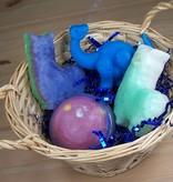 Novelty Basket: 4 Soap Bars