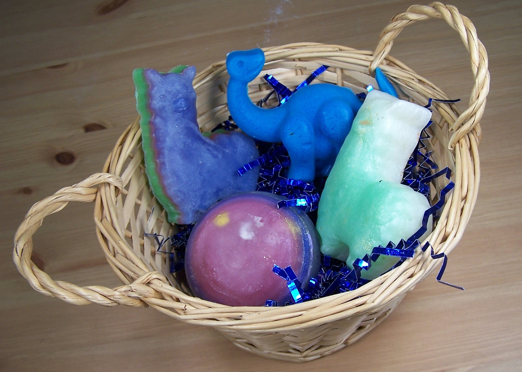 Novelty Basket: 4 Soap Bars