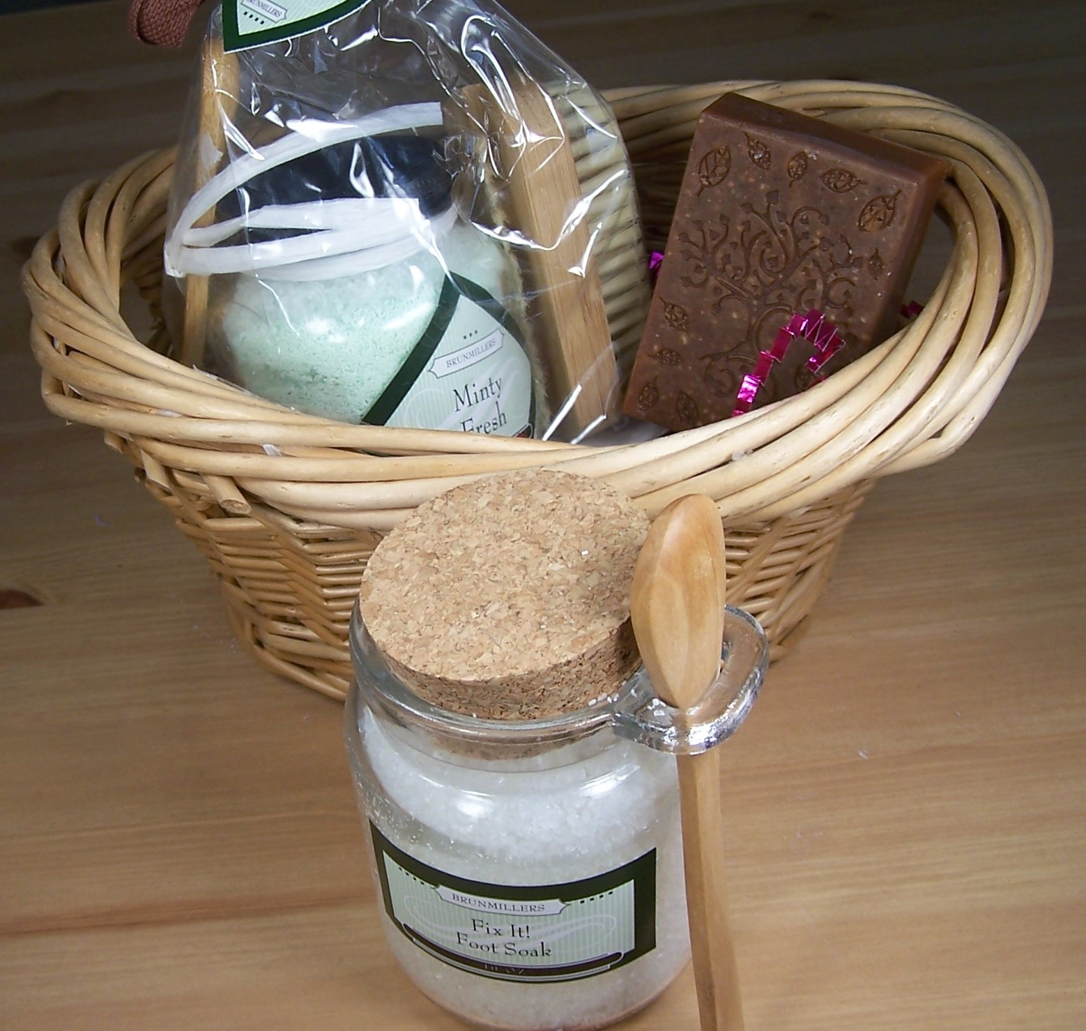 Spa Kit: Soap, Foot Soak or Bath Fizzy Salts, and Nail Brush