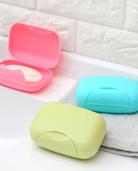 Rectangle Travel Container with Soap