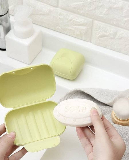 Square Travel Container with Soap