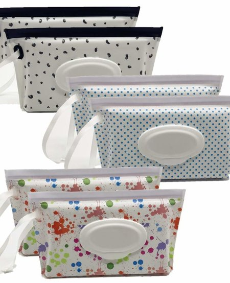 Bamboo Sanitizing Wipes With Refillable Pouch