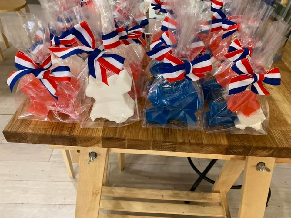 July 4th Texas Guest Gift Bag- Striped Red White & Blue