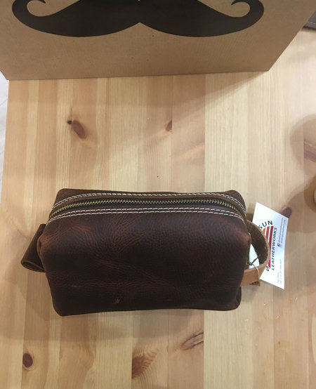 Small Leather Dopp Kit