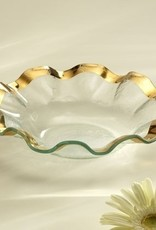 Annie Glass Ruffle Gold Soup Bowl
