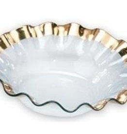 Annie Glass Ruffle Gold Bowl