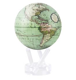"MOVA 4.5"" Antique Terrestrial Green MOVA Globe with Base"