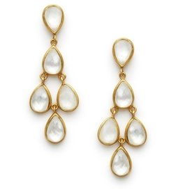 Julie Vos Clara Earrings - Iridescent Chalcedony Blue