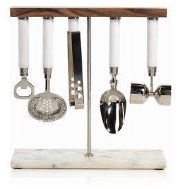 ZODAX Marbella 5 Piece Bar Tool Set