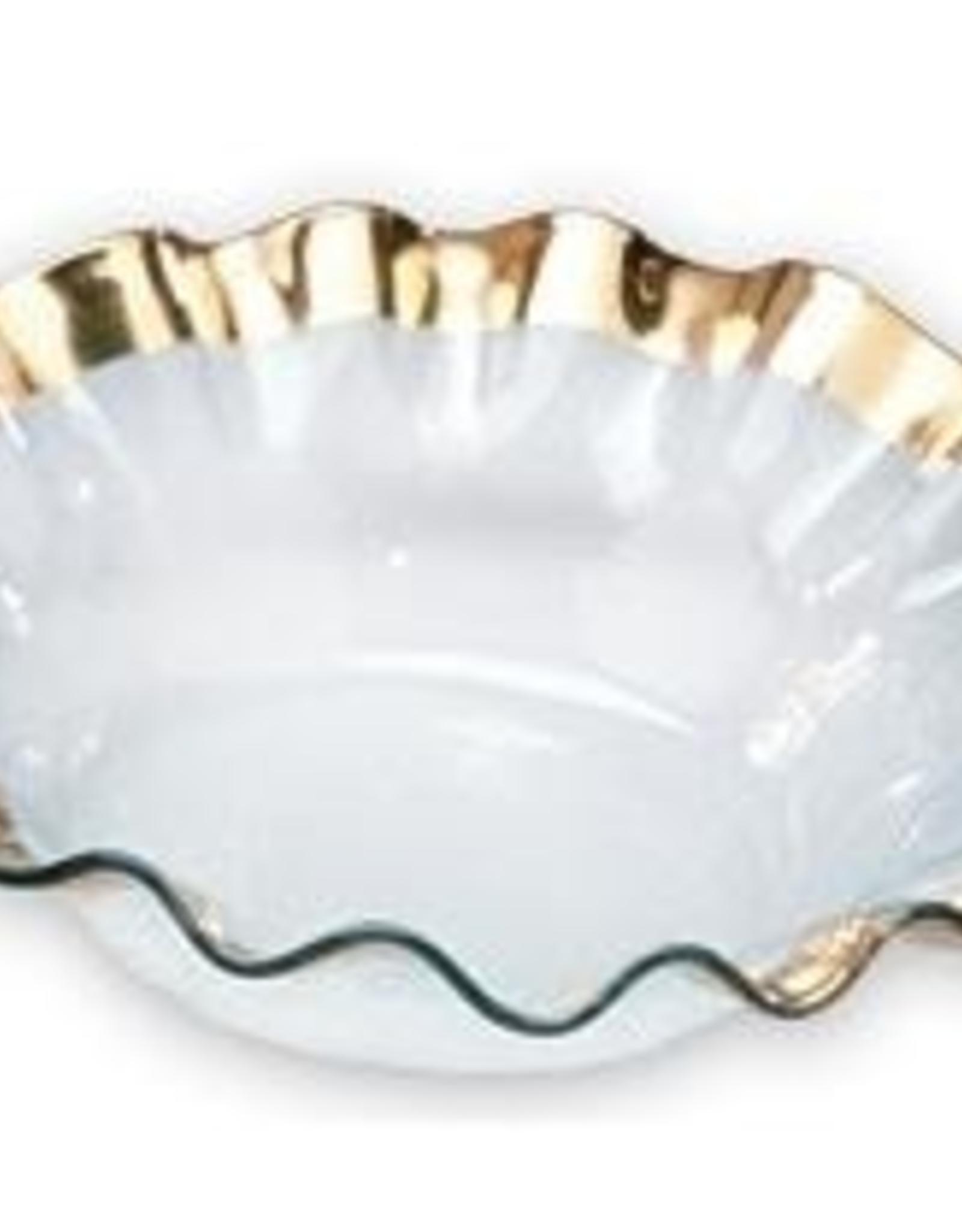 Annie Glass Ruffle Gold Bowl