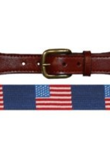 Smathers and Branson Traditional Belt finished with full grain, chestnut colored leather.