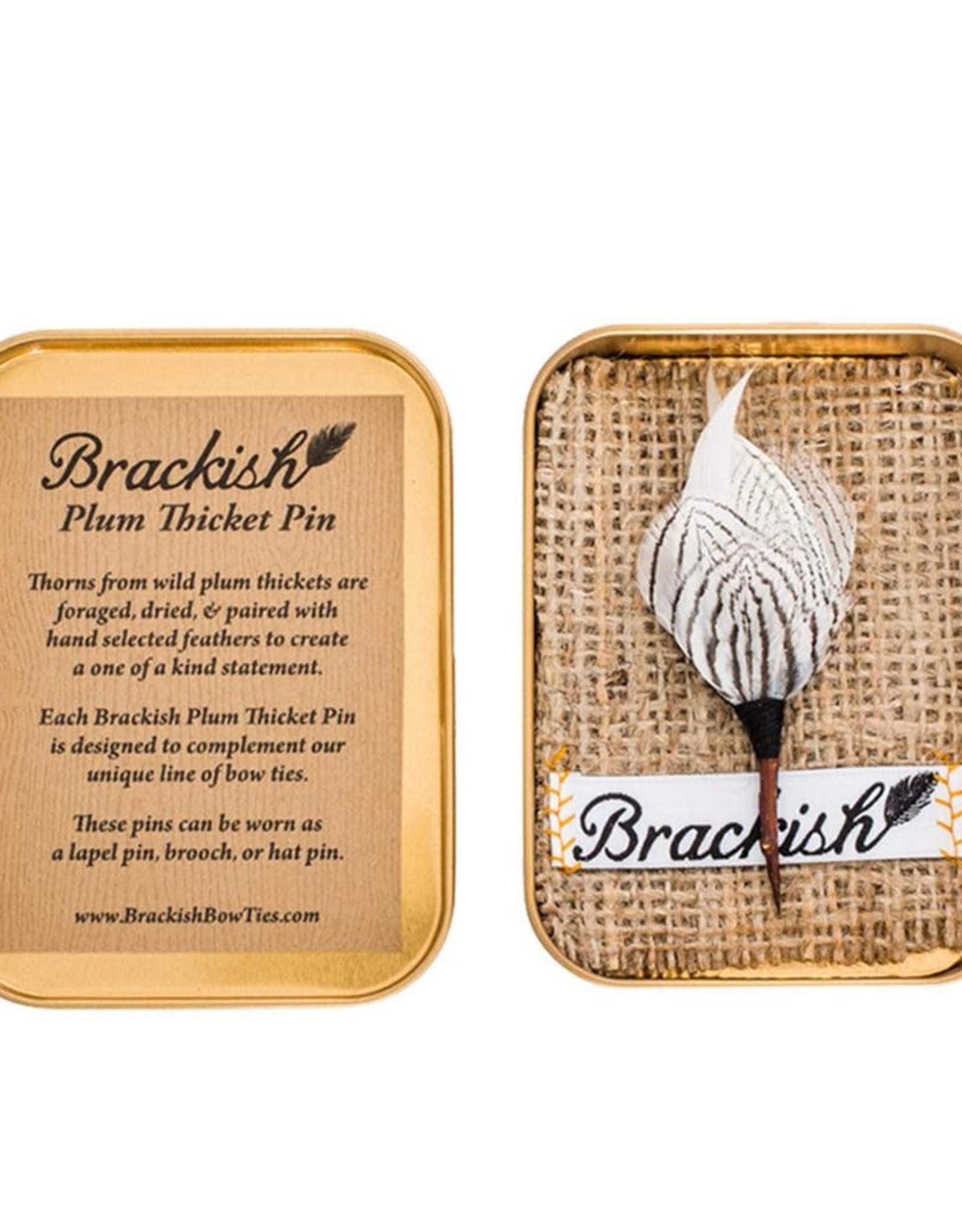 Brackish Steel City Lapel Pin (Pheasant Feathers)