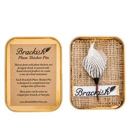 Brackish Steel City Lapel Pin (Pheasant Feathers)