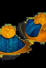 Brackish Walton Earrings - Peacock Feathers