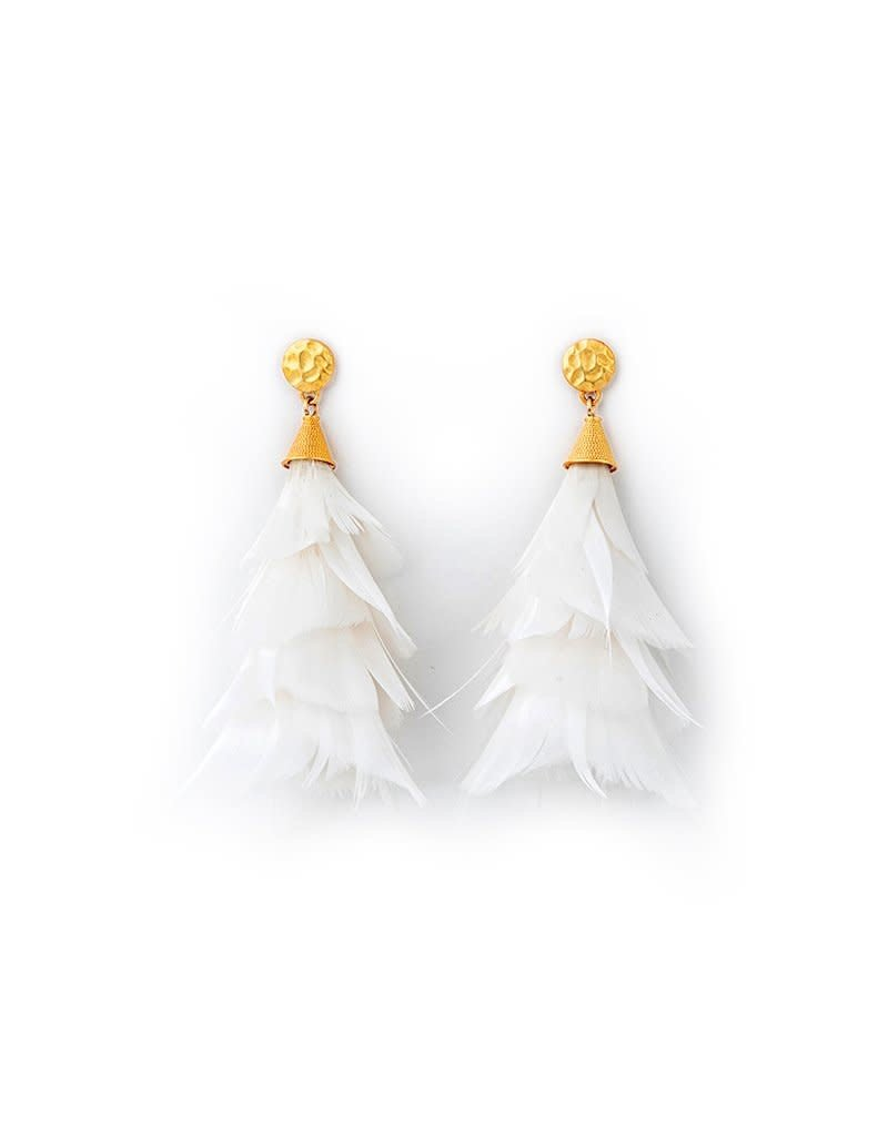 Brackish Jane Earrings - Goose Feathers