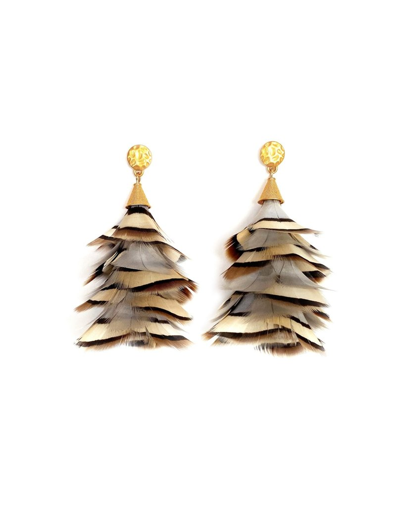 Brackish Sandy Earrings - Partridge Feathers