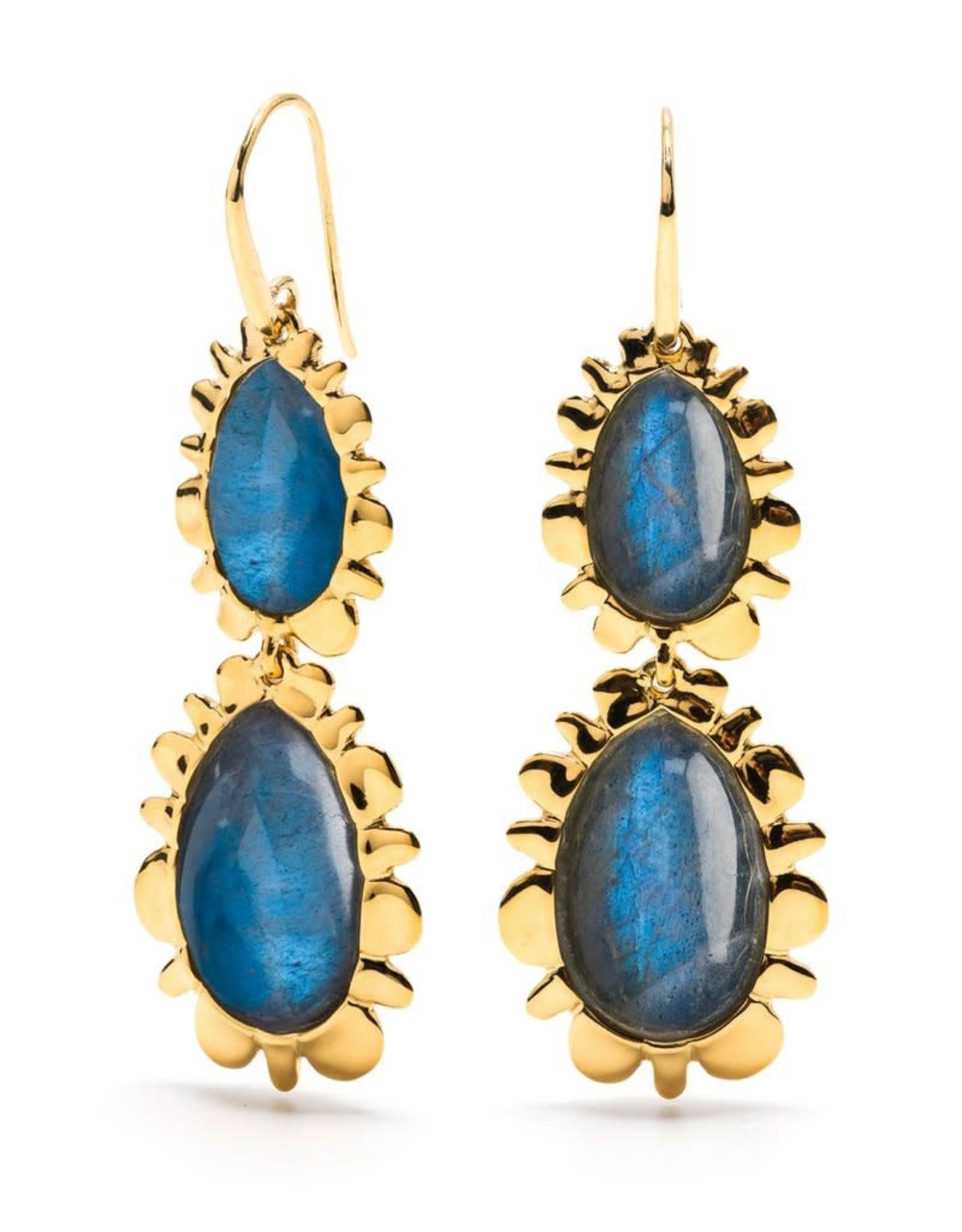 Gifts Bohemienne Double Bliss Earring Blue Labradorite
