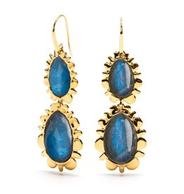Gifts Bohemienne Double Bliss Earring Blue Labradorite