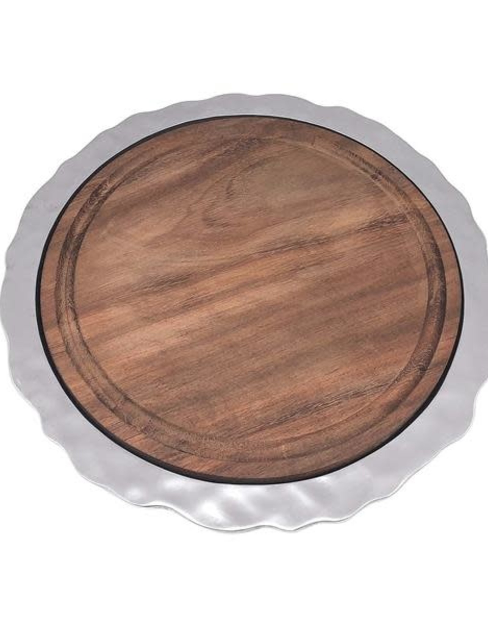 Mariposa Shimmer Round Cheese Board with Dark Wood Insert