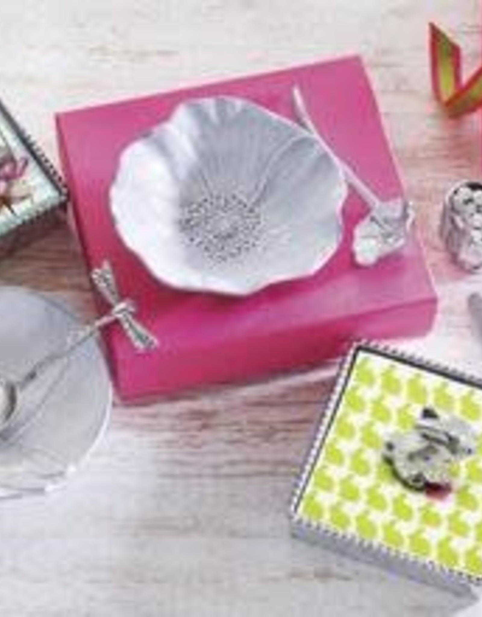 Mariposa Poppy Ceramic Canape  Plate with Poppy Spoon