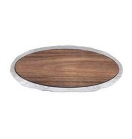 Mariposa Shimmer Long Oval Cheese Board with Dark Wood Insert