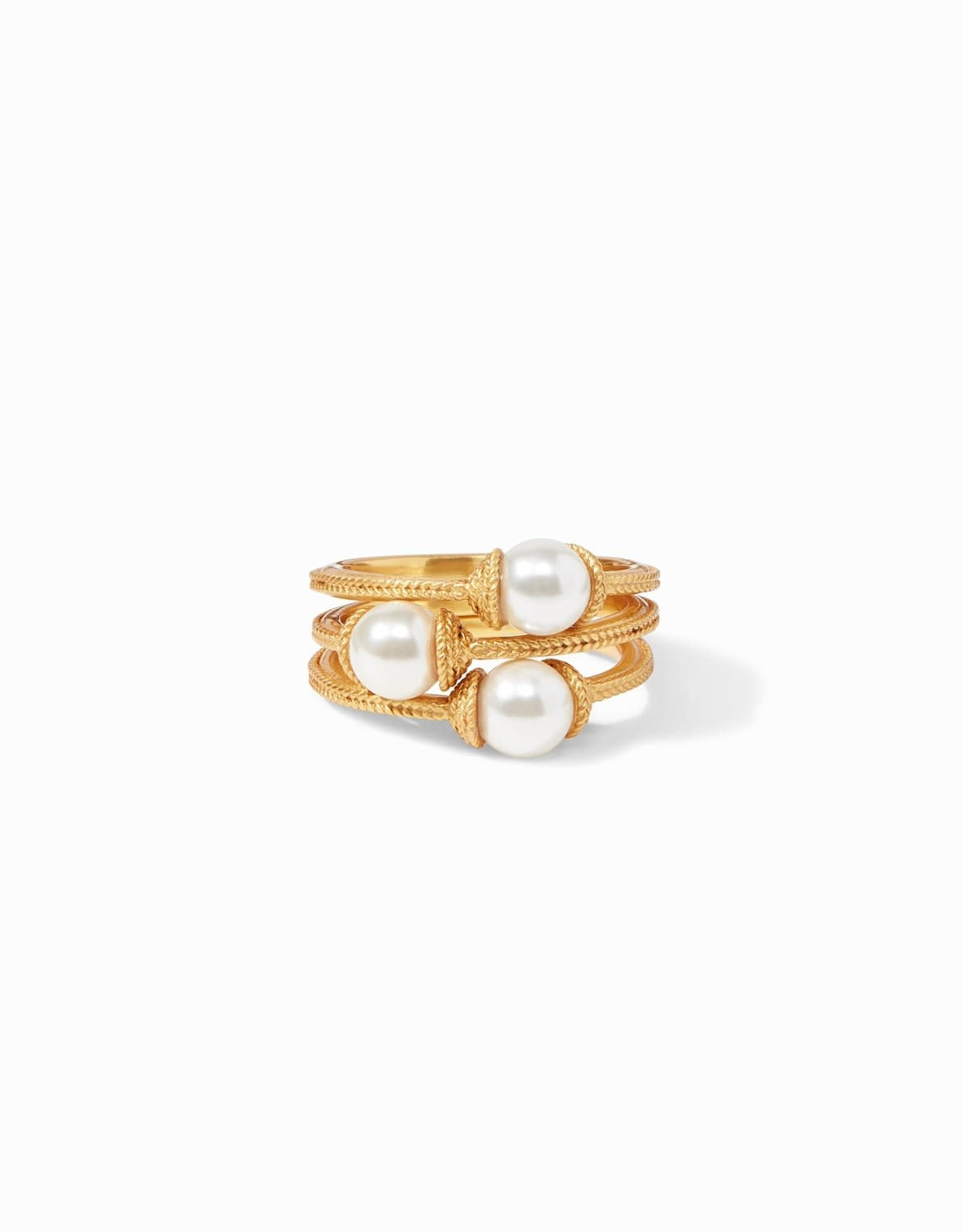 Julie Vos Calypso Pearl Stacking Ring (Set of 3) Gold - Size 7