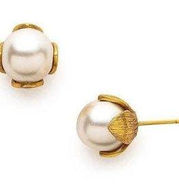 Julie Vos Penelope Stud Gold Pearl