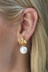 Julie Vos Bee Pearl Drop Earring