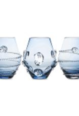 Juliska Set of 3 Assorted Mini Vases - Blue