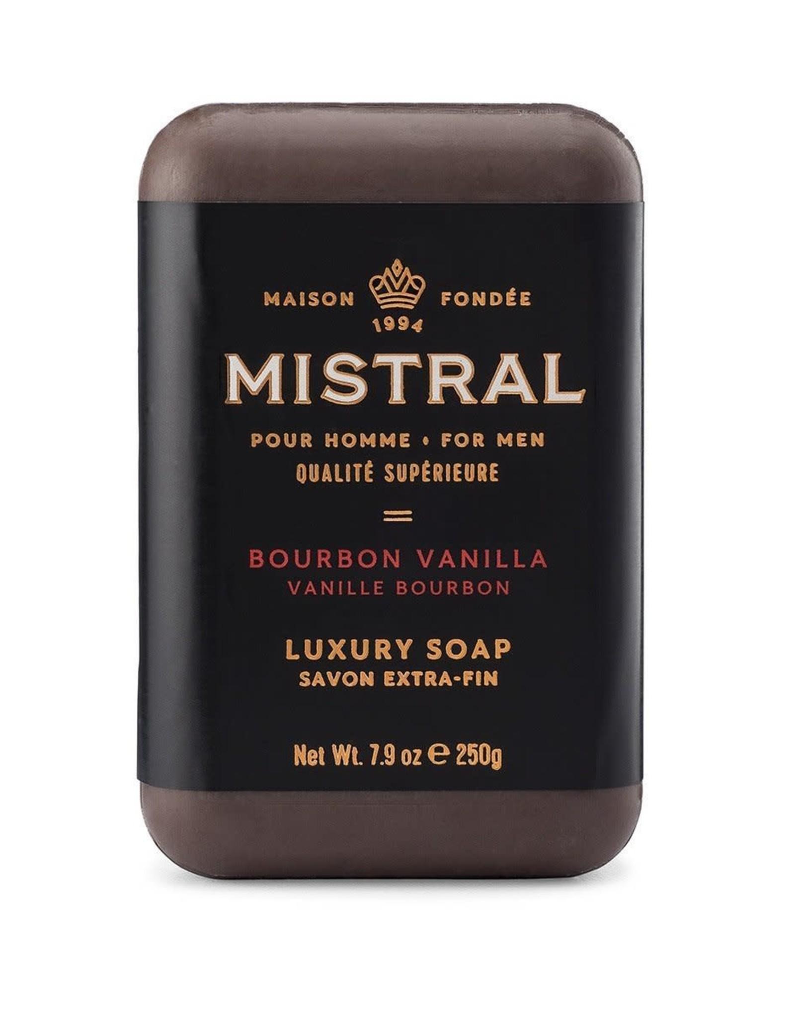 Mistral, LLC Men's Bourbon Vanilla Bar Soap