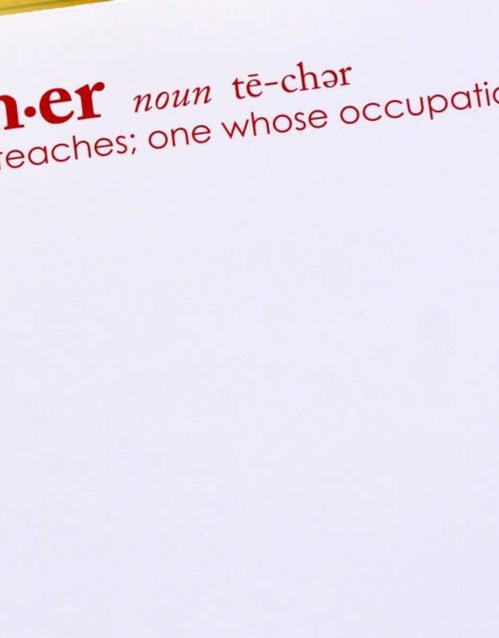 Black Ink Teacher Noun Lux Notepad